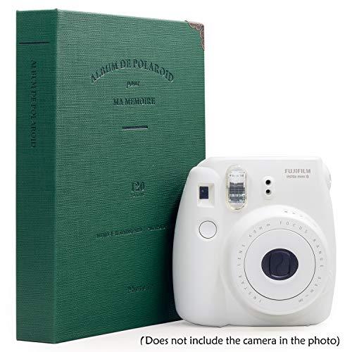 Ablus 120 Pockets Mini Photo Album - Fits for Fujifilm Instax Mini 9 Mini 8 Mini 90 Mini 25, Polaroid Snap PIC-300, Kodak Mini 3-Inch Film (Dark Green)