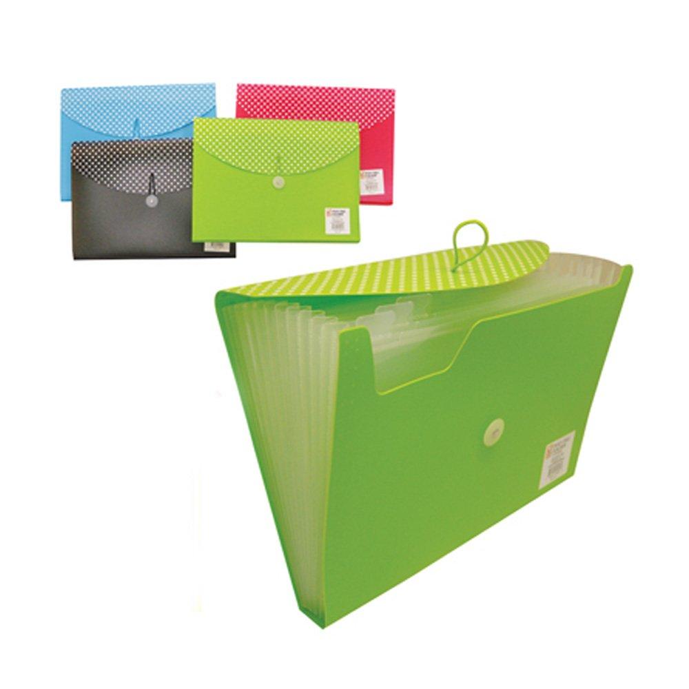 1 Pc Poly File 13 Pocket Folder Expanding Document Accordion Organizer Divider