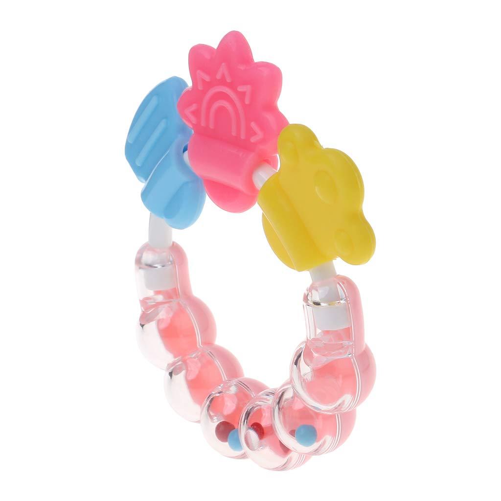 Yanhonin Jouet Dentition B/éb/é Jouets Sensoriels B/éb/é Douche Cadeau Anneau Dentition Silicone