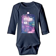 ALEXBY Babys Doctor Call Police Box WHO Long Sleeve Bodysuit Baby Onesie by ALEXBY