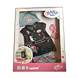 New Zapf Baby Born Deluxe Jean Dress Set Doll Outfit Clothes & Acessories