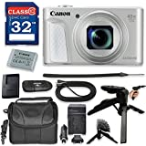 Canon PowerShot SX730 HS Digital Camera with Premium Accessory Kit (Silver) including Memory Card, Grip Flexible Table Tripod, HDMI Cable & More.