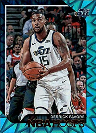 976b8aac716c7 Amazon.com: 2018-19 NBA Hoops Teal Explosion #120 Derrick Favors ...