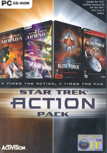 Star Trek Action Pack: Star Trek Armada 1 & 2, Star Trek Elite Force & Elite Force Expansion Pack [Importado de Reino Unido]: Amazon.es: Videojuegos