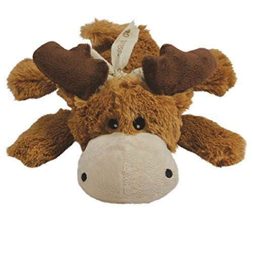 KONG Cozie Marvin the Moose, Small Dog Toy, Brown [2-Pack]
