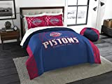 NBA Detroit Pistons Reverse Slam Full/Queen Comforter and 2 Sham Set