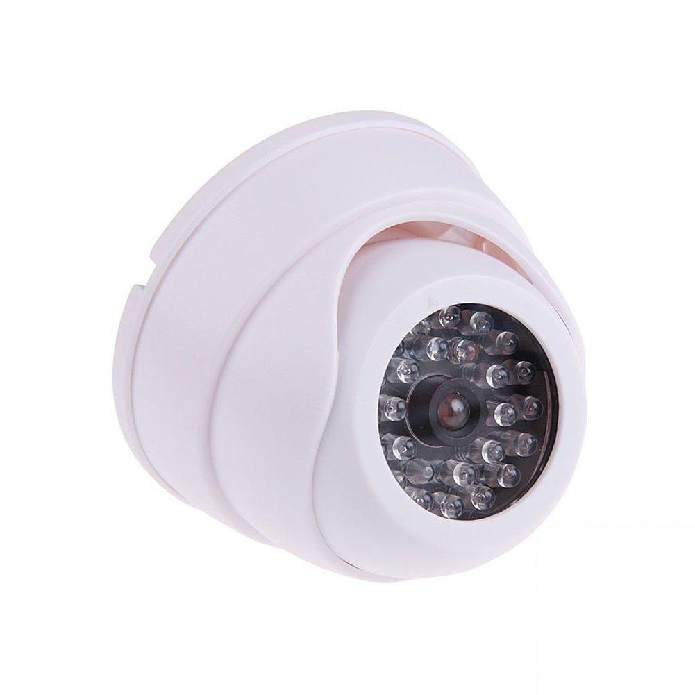 SODIAL Dummy Telecamera A Cupola di Sicurezza di Sorveglianza Finta con 30 LED Lampeggianti Light SL SS