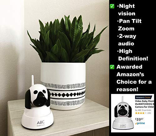 Video Baby Monitor - theWATCHDOG Best Video Camera for Child Kid Pet Monitor- Home/Office WiFi Surveillance Camera for iPhone/Android/Tablet/Computer w/Day/Night Vision 720P by ABC Essentials (Image #1)