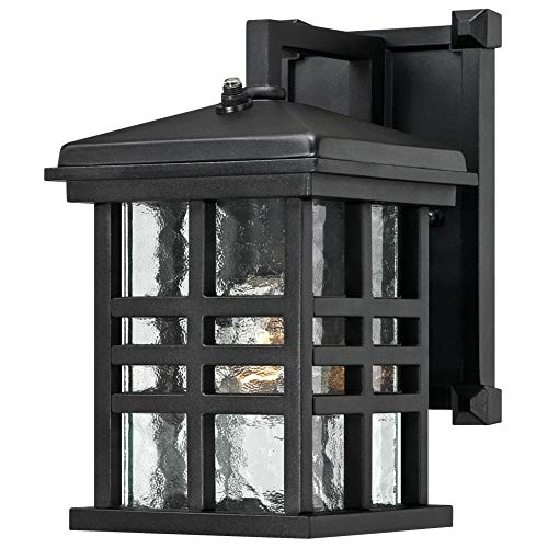 Westinghouse Lighting Westinghouse 6204500 Caliste 1 Light Outdoor Wall Lantern with Dusk to Dawn Sensor, Textured Black (Renewed)