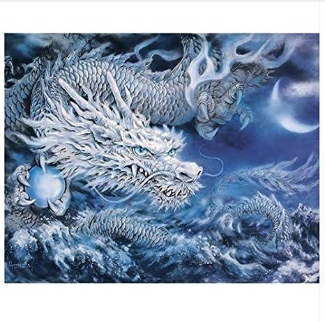 Yzrh Drache Tiere Diy Malen Nach Zahlen Acryl Leinwand Malerei