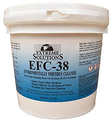 Wood Cleaner & Wood Stripper for Wood Decks, Wood Fences, Wood Siding, and Log Cabins - EFC38 - Woodrich Brand - Moss, Mold, Mildew, Sealer & Stain Remover - Covers up to 3000 Square Feet