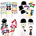 58 pieces party photo Panel photo booth props set photo prop of photo accessories for wedding anniversary graduation party [pipe tobacco crowns ties hats flying beards etc] party accessories