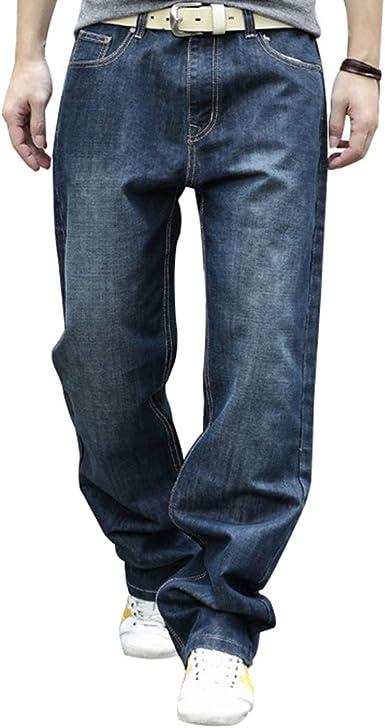 Pantalones Vaqueros para Hombre Tubo Recto Tallas Grandes