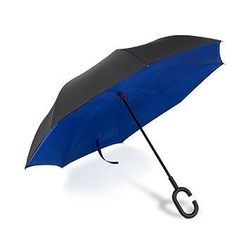 paraguas Los paraguas de largo alcance sin manos de la capa doble pueden soportar el paraguas