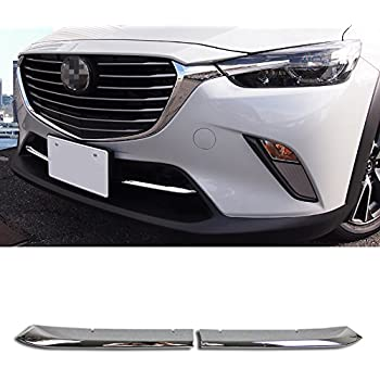 2pcs ABS Chrome Front Grille Grill Molding Trim For Mazda 6 Atenza 2016-2018