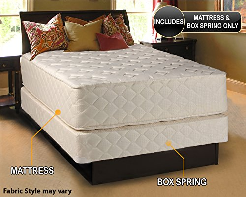 Highlight Luxury Firm King Size (76''x80''x14'') Mattress & Box Spring Set - Fully Assembled - Spinal Back Support, Innerspring Coils, Premium edge guards, Longlasting Comfort - By Dream Solutions USA by Dream Solutions USA