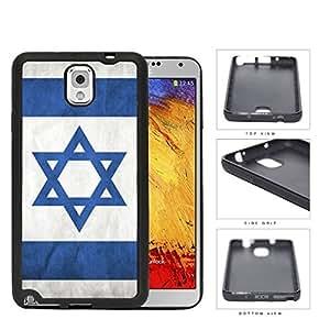 Israelian Flag In Grunge Rubber Silicone TPU Cell Phone Case Samsung Galaxy Note 3 III N9000 N9002 N9005
