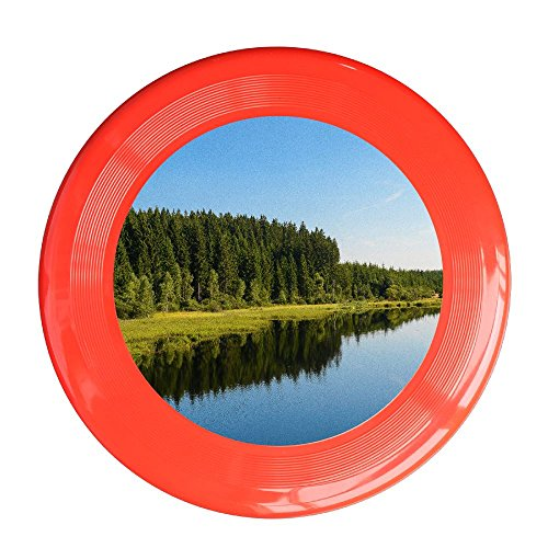 - Skkoka Frisbee Quiet Lake And Reflection Nature Reserve Plant Green Life Frisbee Family Fun Group Game Variety Of Colors Durable Frisbee Red
