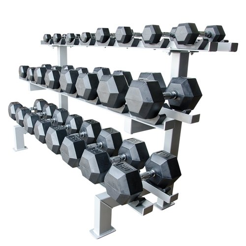 Adjustable 12 Pair Dumbbell Rack W/Saddles by Athletic Connection