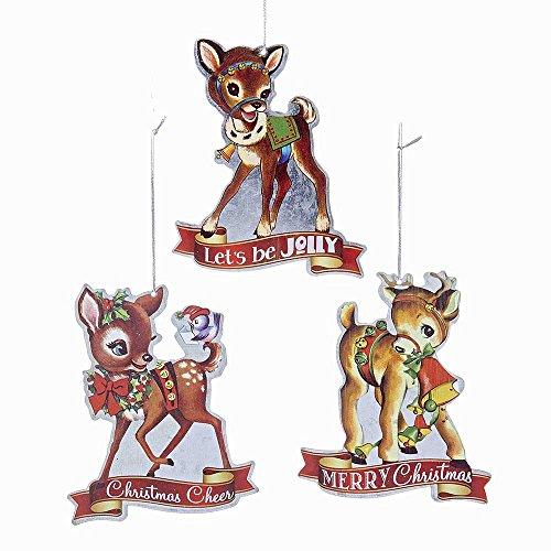 Christmas Deer Ornament (Kurt Adler YAMC5491 4.5
