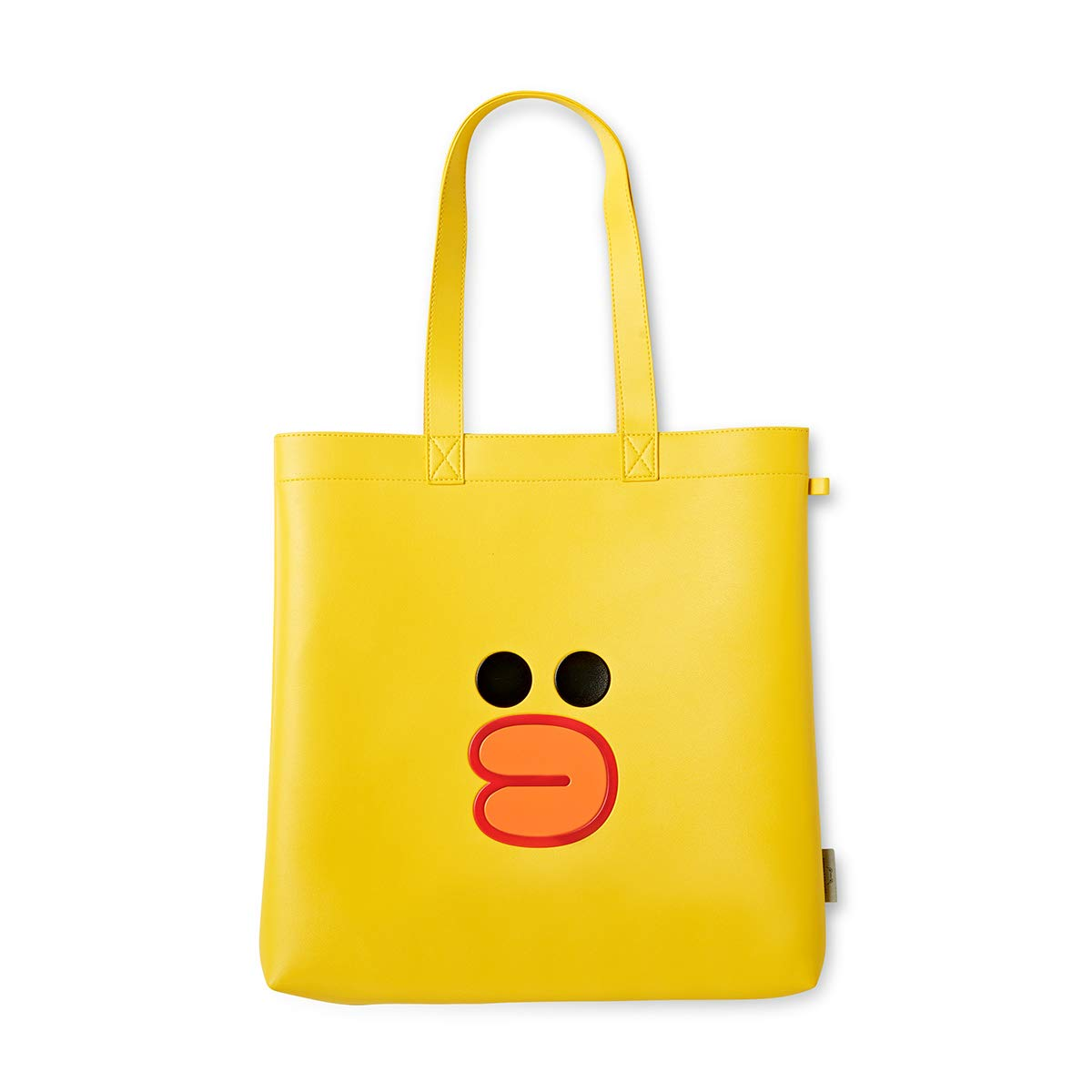 LINE FRIENDS Tote Bag - SALLY Character Faux Leather Purse, Yellow
