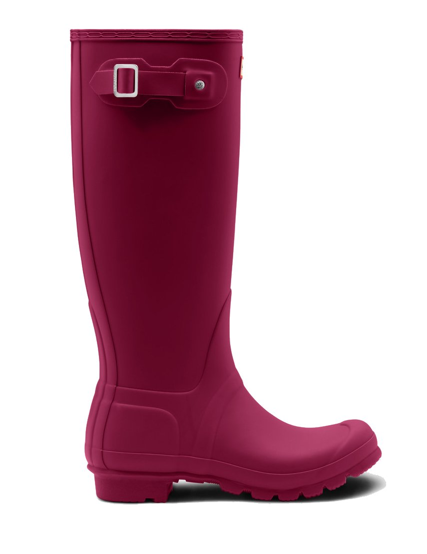 Hunter Women's Original Tall Rain Boots Dark Ion Pink, Size 9 by Hunter (Image #1)