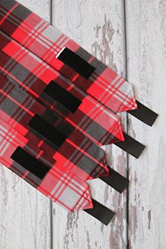 Polo Wraps / Stable Wraps, Set of 4 Plaid Red Madras