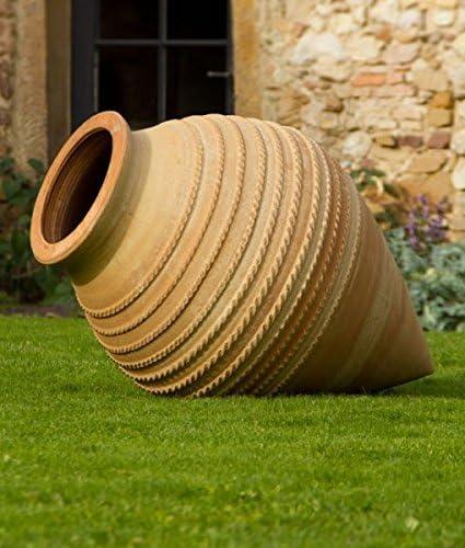 Alta calidad Terracota Ánfora, puntiaguda, resistente a heladas, decoración tumbado para el jardín 50 – 110 cm vitex: Amazon.es: Jardín
