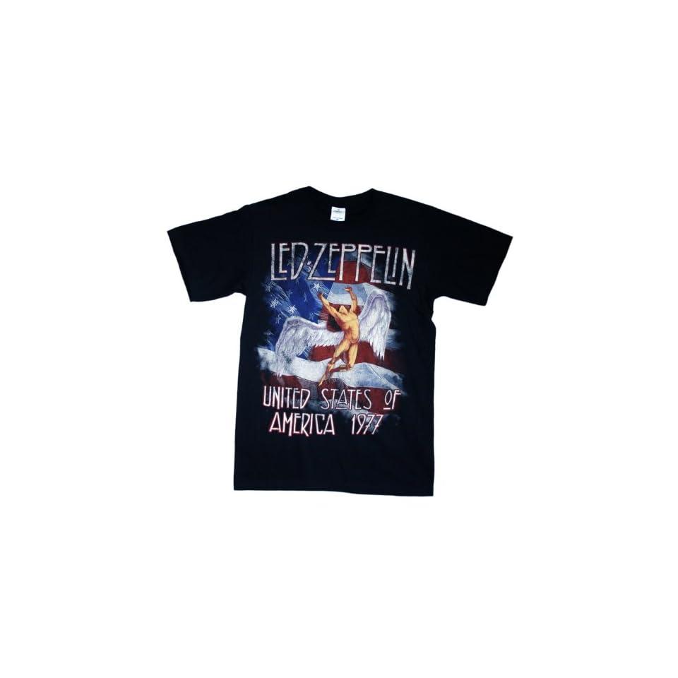 Led Zeppelin   America 1977 T Shirt Size L