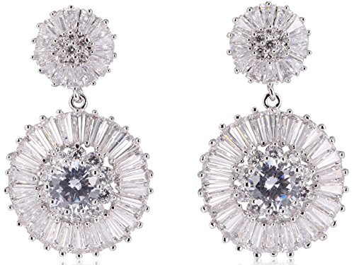 ound Shape Celebrity Designer Wedding Christmas Gift Party Earrings For Women (Chanel Coco Bag)