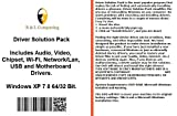 Drivers Solution Pack For Toshiba Computers Installs Fix Audio Video Chipset Wi-Fi Network/Lan USB Motherboard Drivers- Windows XP Vista 7 8 32 64 Bit DVD Disk