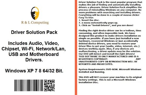 Drivers Solution Pack For HP Computers Installs Fix Audio Video Chipset  Wi-Fi Network/Lan USB Motherboard Drivers- Windows XP Vista 7 8 32 64 Bit  DVD