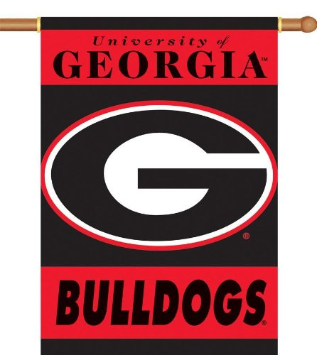 - NCAA Georgia Bulldogs 2-Sided 28-by-40 inch House Banner G Logo with Pole Sleeve