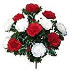 Admired-By-Nature-AC006-RDCM1-14-Stems-Faux-Blooming-Carnation-Berry-Flower-Bush
