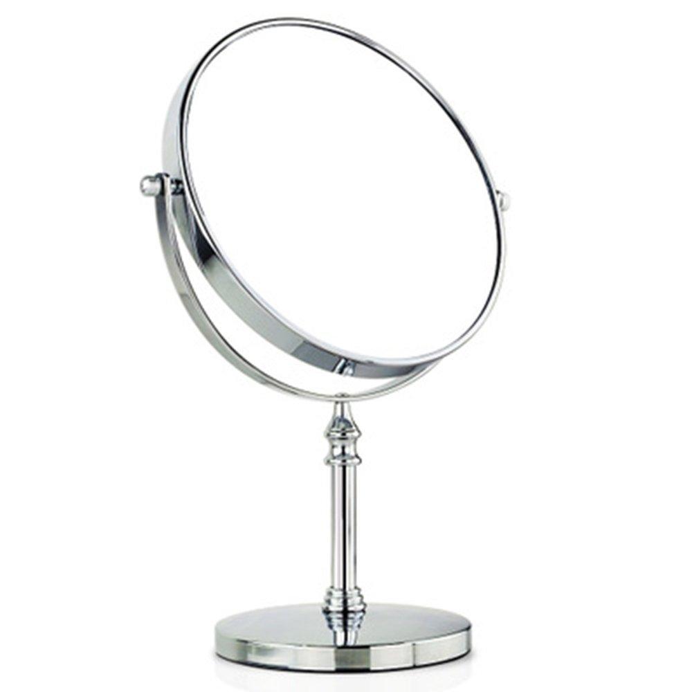 Specchio rotondo in metallo Zoom ad alta risoluzione Specchio da 7 pollici Rotazione a 360 ° Ingrandisci 5 volte Wenwan