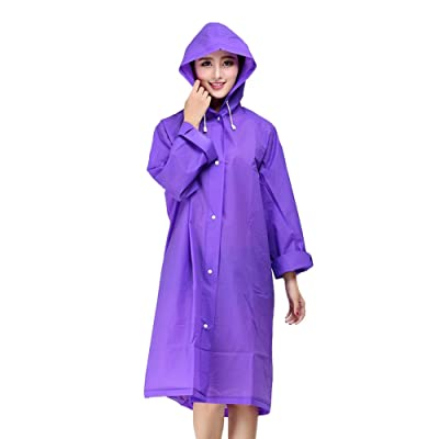 6a7de912877 bestfur Lightweight EVA Easy Carry Poncho Wind Hooded Raincoat ...