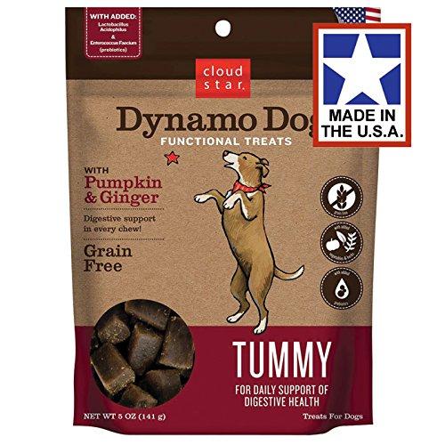 Cloud Star Dynamo Dog Tummy Dog Treats 5 oz. Pumpkin & Ginger by Cloud Star