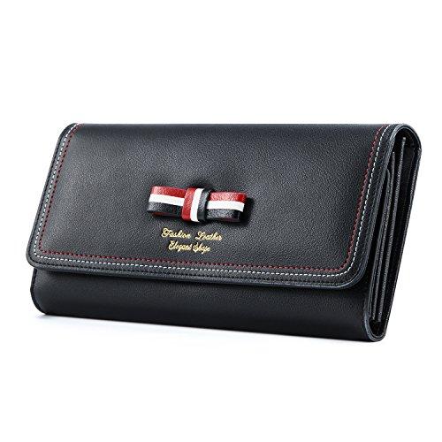 Kattee Women's Genuine Leather Wallet Cute Credit