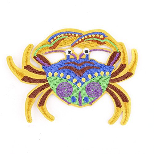 DealMux Polyester Crab Design Craft Sewing Scrapbooking Hat Bag Decor Lace Applique Patch DLM-B0727WPHMY