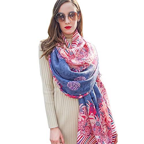 DANA XU 100% Pure Wool Women Scarf Large Size Pashmina ()