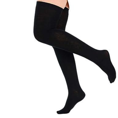828b45526 Ladies Girls Over The Knee Socks Back To School Size 4-7 Uk Euro 37-42  (Black)  Amazon.co.uk  Clothing