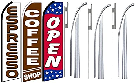 LookOurWay Donuts Feather Flag Complete Set with Pole /& Ground Spike