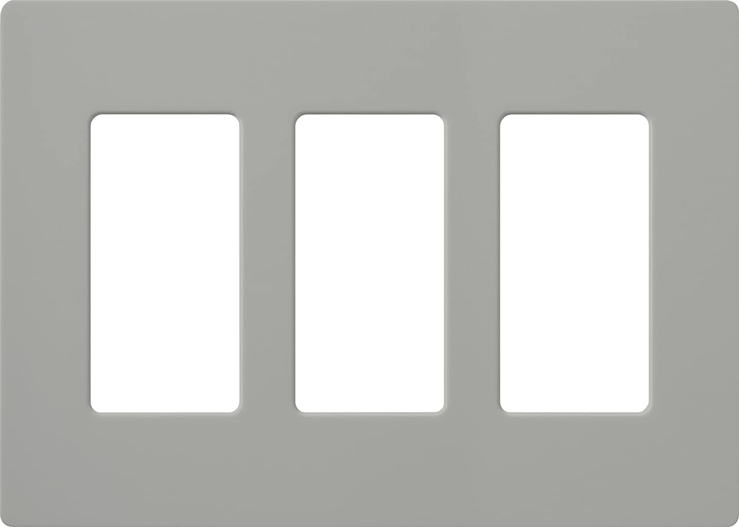 Lutron CW3GR Claro 3Gang Wall Plate Gray Switch Plate Cover