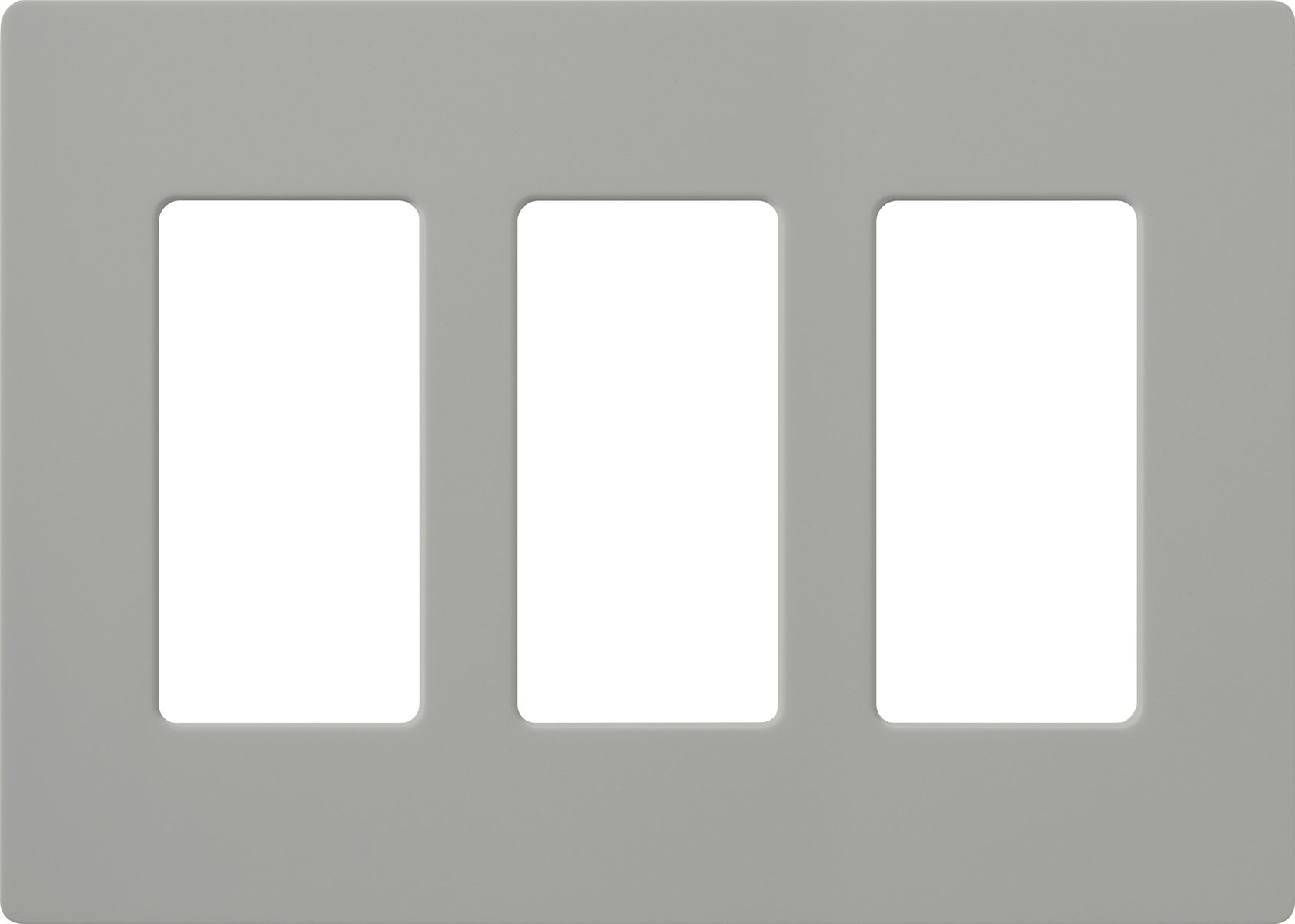 Gray New Lutron CW-3-GR Claro 3-Gang Wall Plate Free Shipping