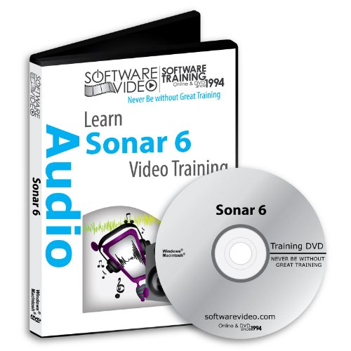 Sonar Video Tutorials - Software Video Learn Sonar 6 Training DVD Sale 60% Off training video tutorials DVD- Over 5 Hours of Video Training
