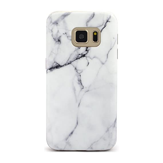 newest 851df 89f35 Samsung Galaxy S7 Edge Case Marble White Pattern Tpu Protective 5.5