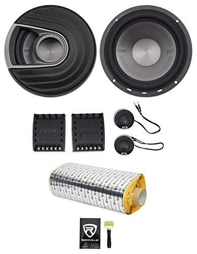 Polk Audio Mm6502 6 5  750W Component Car Marine Atv Motorcycle Speakers Rockmat