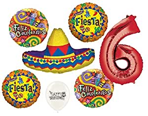 Amazon.com: Ultimate Sombrero Fiesta Feliz Cumpleanos 6th ...