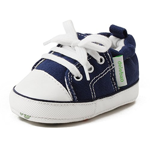 Footwear Baby Blue Toddler (Delebao Baby Soft Soled Canvas Anti-Skid Infant Toddler Sneaker Shoes (0-6 Months, Blue))