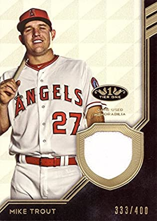 timeless design 8176f e9d9b Amazon.com: 2018 Topps Tier One Relics #T1R-MS Mike Trout ...